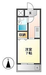 パックス恵方II[3階]の間取り