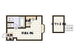 フィメールアベニュー[2階]の間取り