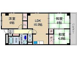 吉田マンション東雲パート2[2階]の間取り