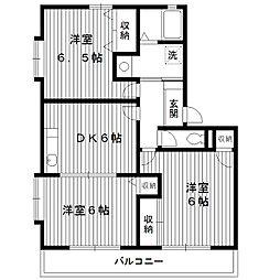東京都練馬区田柄の賃貸アパートの間取り