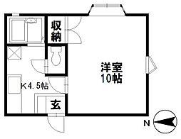 アパートメントハウスFlorigen(フロリーゲン)[107号室]の間取り