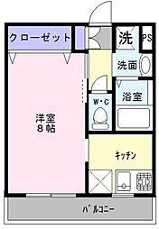 大阪府高石市綾園2丁目の賃貸アパートの間取り