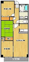 Sunsky 〜サンスカイ〜[4階]の間取り