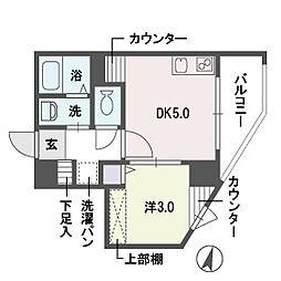 アディーレ西新[9階]の間取り