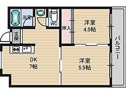 橋本第一綜合ビル[3階]の間取り