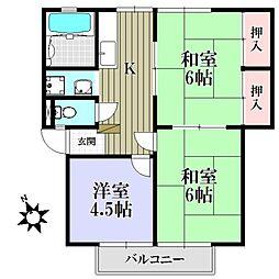 第2ヴィラ坂井[2階]の間取り