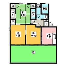 サンステージ豊川B棟[1階]の間取り