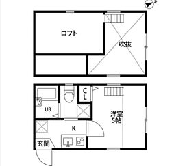 神奈川県横浜市西区境之谷の賃貸アパートの間取り