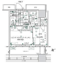 都営浅草線 大門駅 徒歩14分の賃貸マンション 2階1LDKの間取り