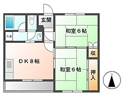 アビタシオンカトー[3階]の間取り