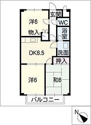 Surplus大樹寺B[2階]の間取り