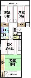 長野県長野市三輪5丁目の賃貸マンションの間取り
