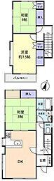[一戸建] 千葉県八千代市上高野 の賃貸【/】の間取り