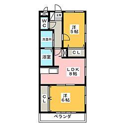 ハイム野村[2階]の間取り