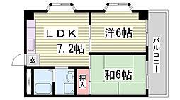 ハイツ菊水[5階]の間取り