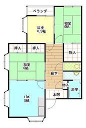 大阪府高槻市柱本新町の賃貸マンションの間取り