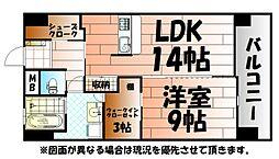 Bay Side Asano ベイサイドアサノ[6階]の間取り