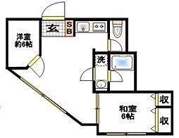 エクセル今井町[1階]の間取り