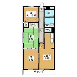 ソレーユ南仙台[3階]の間取り