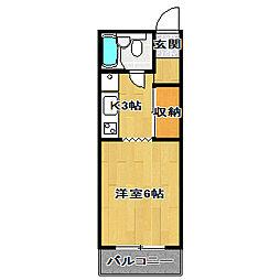 メゾンレポ[1階]の間取り