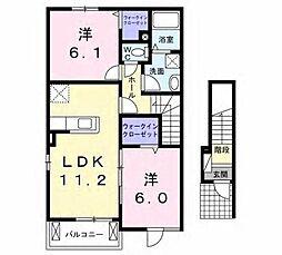 メゾン沙樹A[2階]の間取り