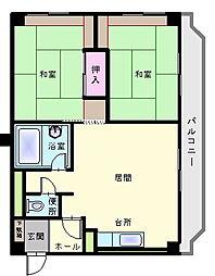 北海道函館市柳町の賃貸マンションの間取り