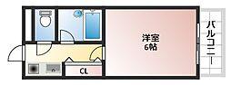 メゾンイシケン[5階]の間取り