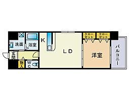 エンクレスト博多駅南2[4階]の間取り