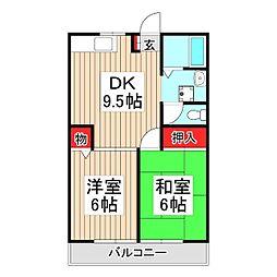 埼玉県和光市新倉2丁目の賃貸マンションの間取り