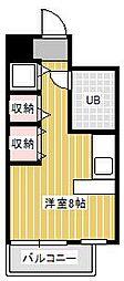 ジュネパレス新松戸第16[3階]の間取り