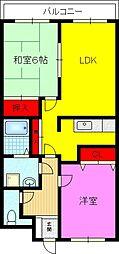 グランボナーWADA[1階]の間取り