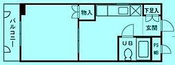 ライフゾーン中原2[2階]の間取り