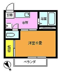埼玉県志木市柏町6丁目の賃貸アパートの間取り