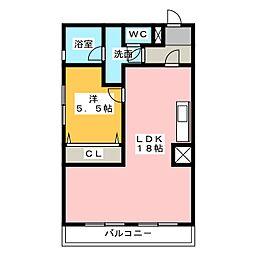 愛知県名古屋市名東区文教台2の賃貸マンションの間取り