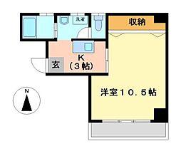 愛知県名古屋市中村区名楽町2丁目の賃貸マンションの間取り