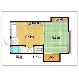飯倉荘[106号室]の間取り
