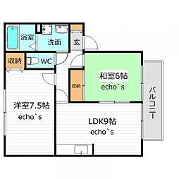 ルシードソノベII[2階]の間取り