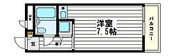 NOVA上町台3[3階]の間取り