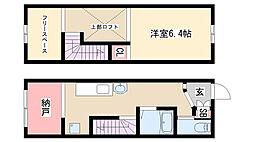 愛知県名古屋市緑区桶狭間神明の賃貸アパートの間取り