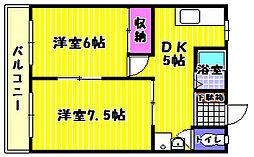 谷マンション[2階]の間取り