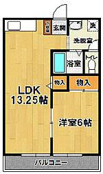 茨城県つくば市北条の賃貸アパートの間取り