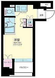 東京都中央区築地2丁目の賃貸マンションの間取り