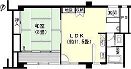 和室8畳 LDK