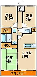 エスポワール西神戸[3階]の間取り