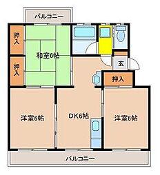 コーポコータロー[2階]の間取り