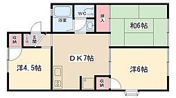 コーポラス渋谷1[105号室]の間取り