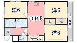 グレイス姫路[2階]の間取り