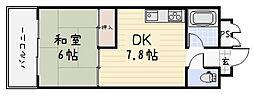 ヒットパークレジデンス三萩野[405号室]の間取り