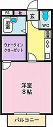 スカイハイツ柿平[1階]の間取り