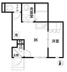 東京都港区芝5丁目の賃貸アパートの間取り